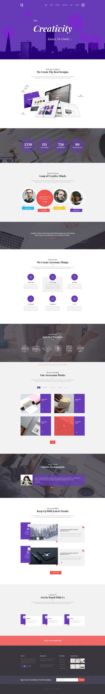 Quest - Portfolio PSD Template by wnabcreative