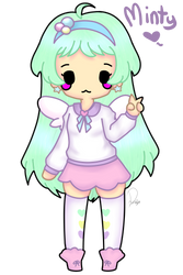 Minty (Pastel Girl Challenge) by Domenica-chan999