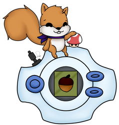 Gaming Squirrel [CM] by Domenica-chan999