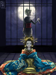 Sun and moon of Yoshiwara by Jeannette11