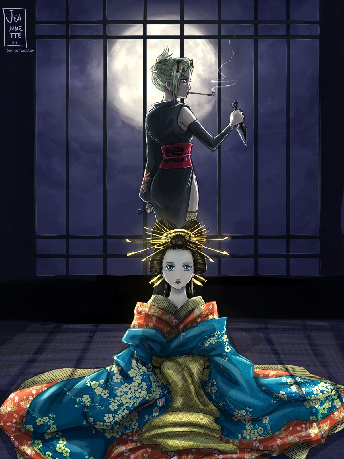 Sun and moon of Yoshiwara