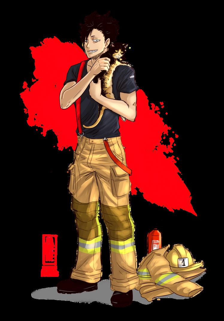 Kuroo firefighter by Jeannette11 on DeviantArt