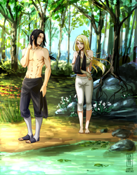 Itachi and Kaya by Jeannette11