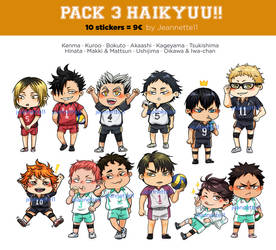 Haikyuu Stickers by Jeannette11