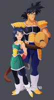 Bardock and Gine by linxchan91