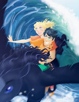 Percy and Annabeth by linxchan91