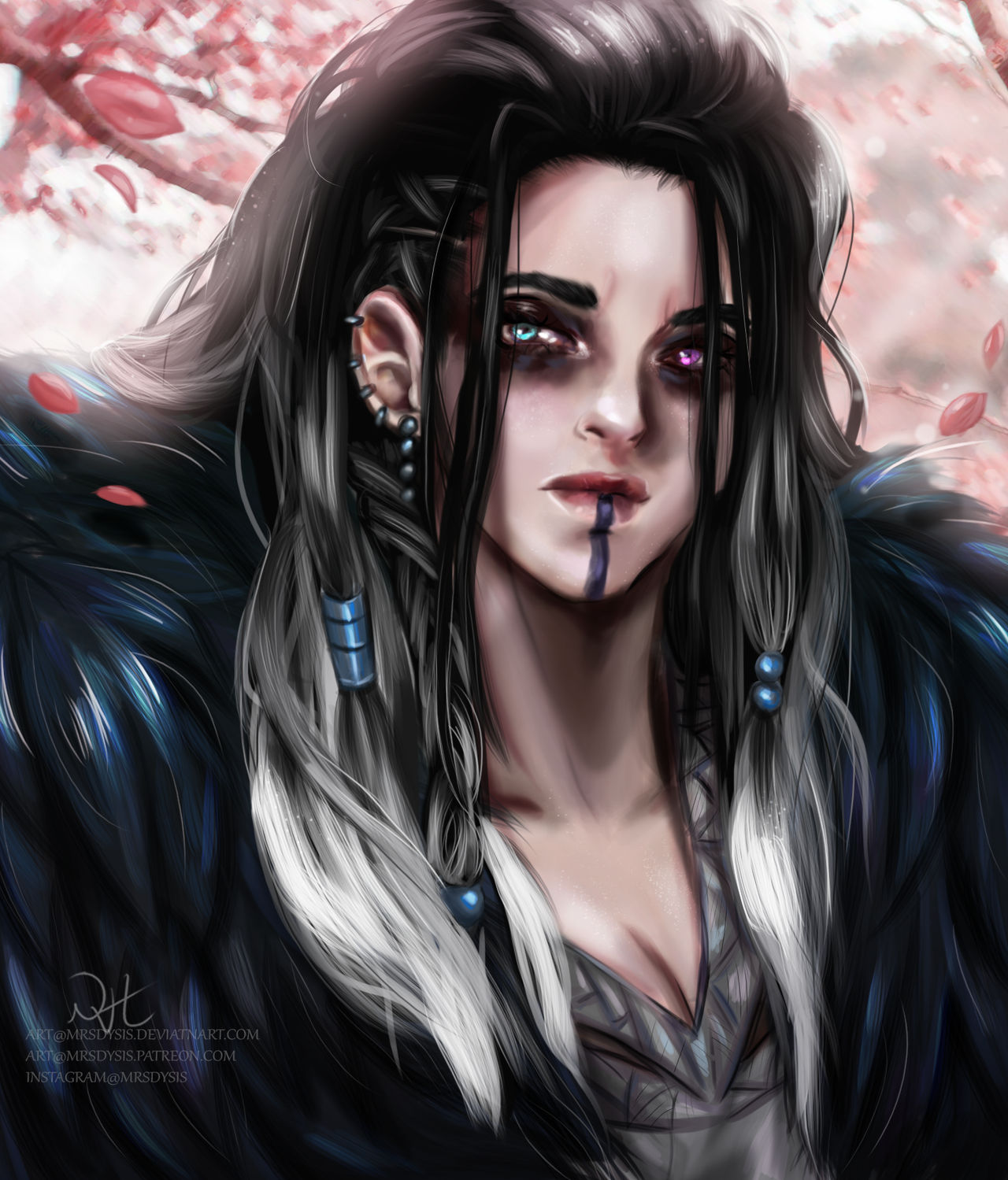 Critical Role Yasha By Mrsdysis On Deviantart When she joined the mighty nein, her matted hair was black fading to white as it reached the tips. critical role yasha by mrsdysis on
