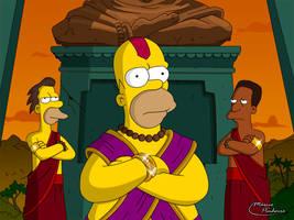 God Homer by marciopinheiro