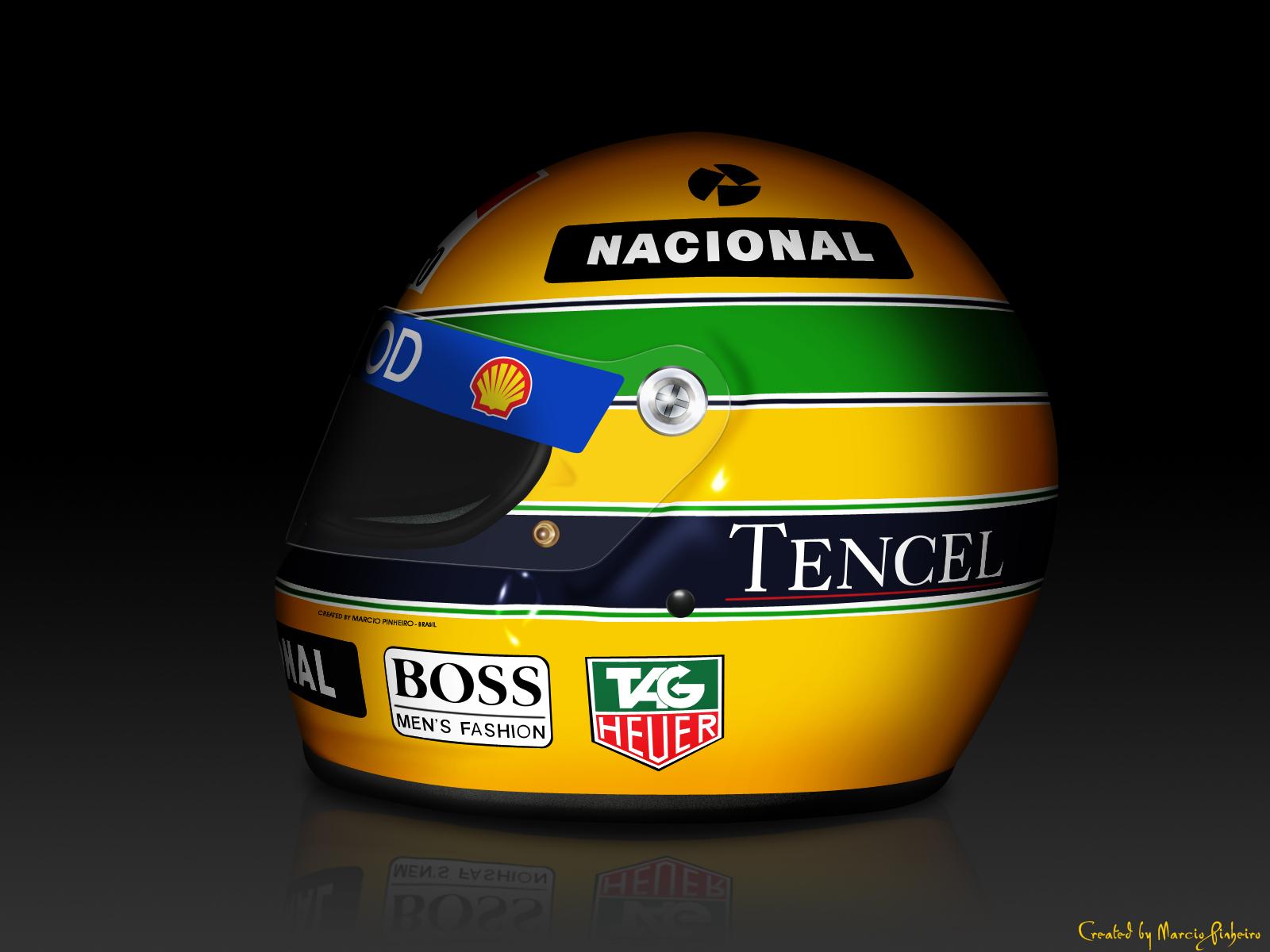 Senna's Helmet by marciopinheiro
