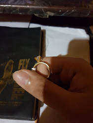 The ring which I am gonna propose to her with.