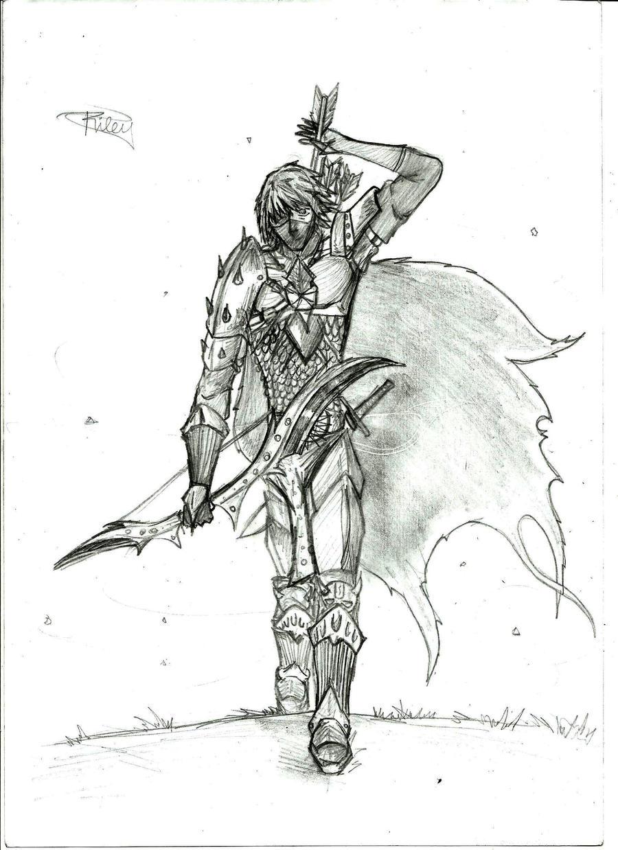Medieval Archer Drawing Wwwimgkidcom The Image Kid Has It