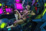 Cybergirl in space color redone by atomcyber