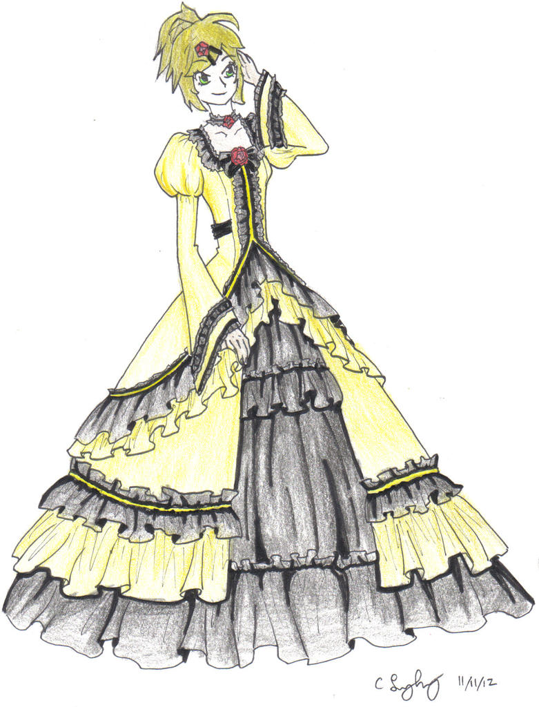 Victorian dress anime