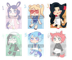 [OPEN 3/6] 200pts Kpop Inspired Adopts 5 by martabak-adopts