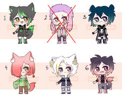 [OPEN 5/6] 300pts Boys Kemonomimi Adopt Batch