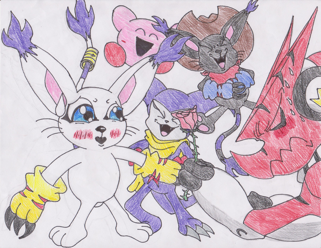 Gatomon and Wizardmon Human Forms by bearchipsandships123 on ...