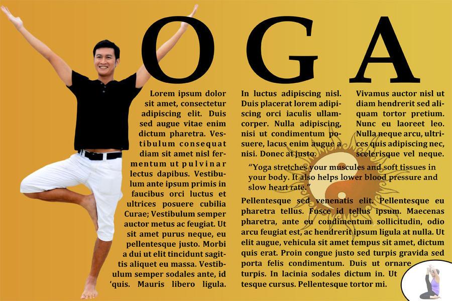 Yoga Magazine Spread By JodiJeakins