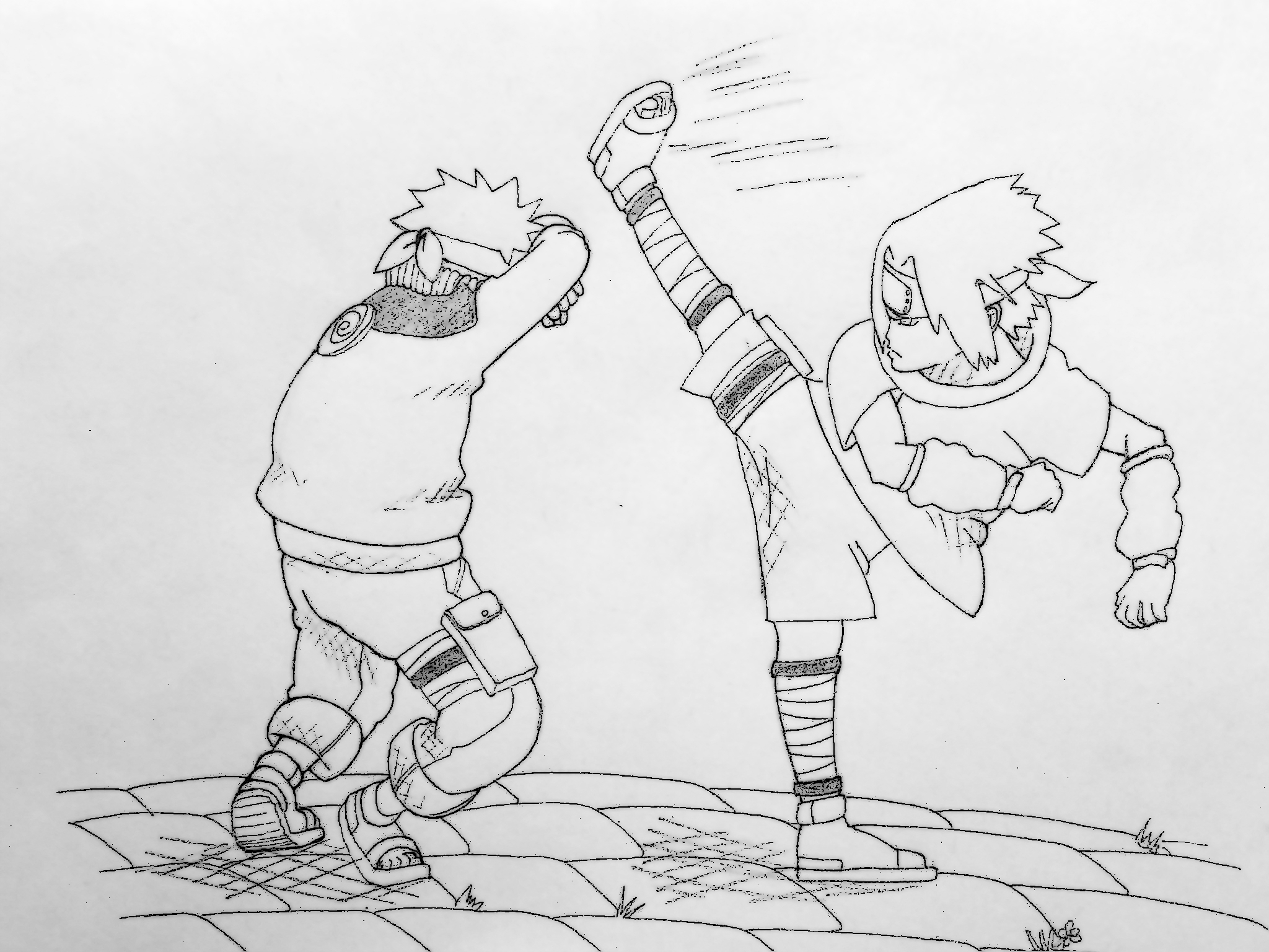 Uzumaki naruto vs uchiha sasuke by radovanbabovic on deviantart