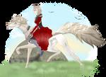 Commission Hibiki x Udo by LunaShadowsWolf