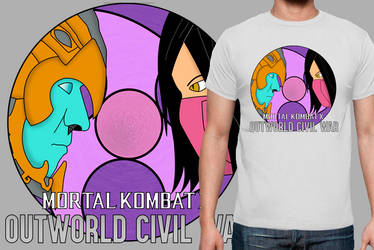 Mortal Kombat X Civil War T-Shirt by Jai302