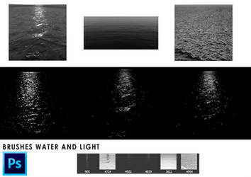 Photoshop brushes water and light