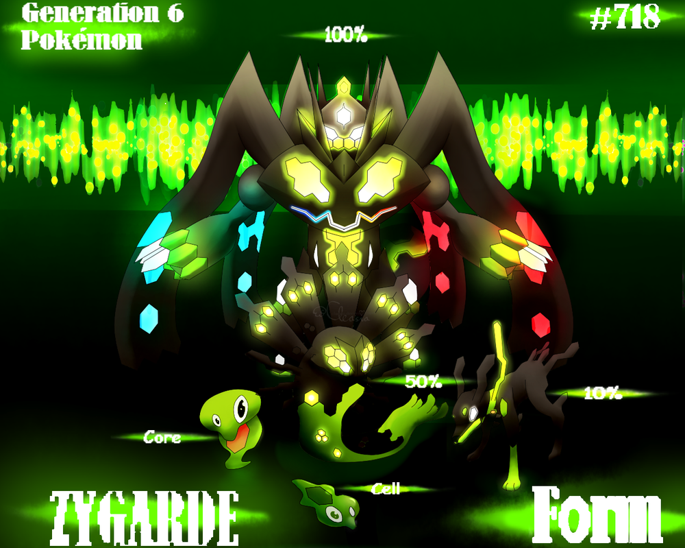 Pokemon: Zygarde - Forms by Cleasia on DeviantArt