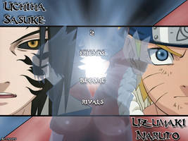 naruto and sasuke wallpaper by Yamato-chan