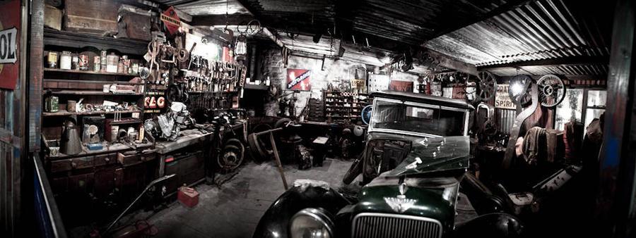 Old Garage Panorama By Siilver1984 On Deviantart