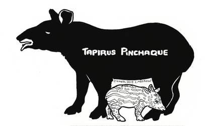 Endangered Inktober - Mountain Tapir