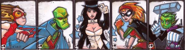 DC Sketch Cards by JeremyTreece
