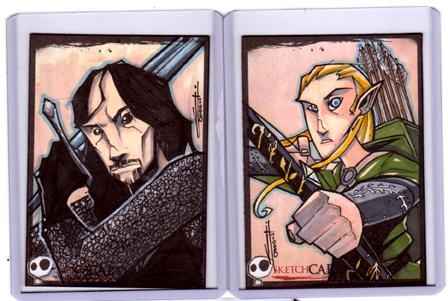 Sketchcards - Legolas-Aragorn by JeremyTreece