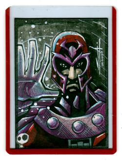 Magneto Sketch Card by JeremyTreece