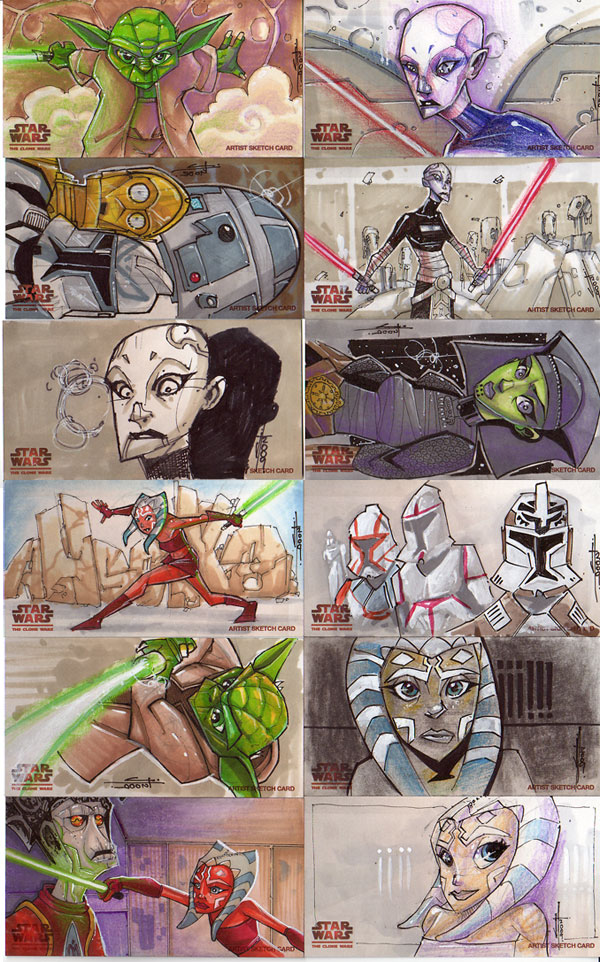 Clone Wars Season 1 cards : 02 by JeremyTreece