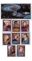 Star Trek TNG sketch cards