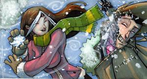 Rogue.Gambit snowball fight