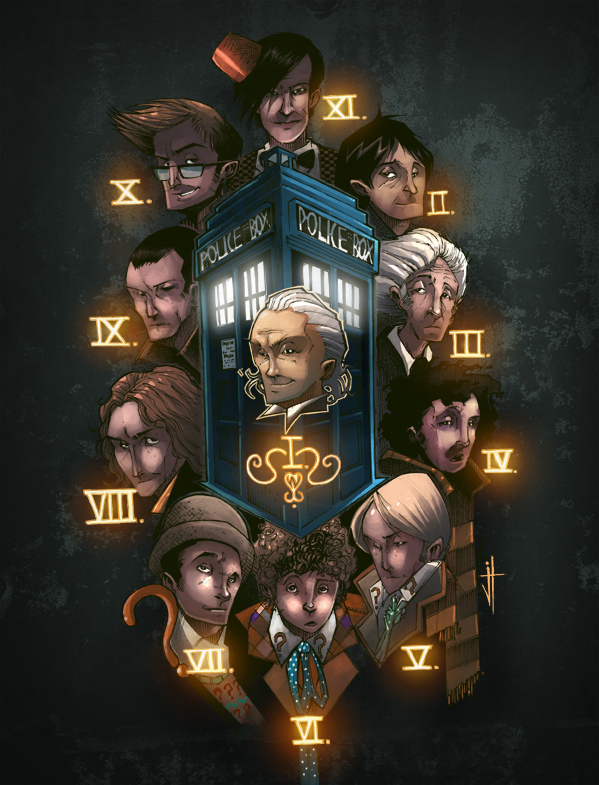 the Many Faces of Doctor Who by JeremyTreece
