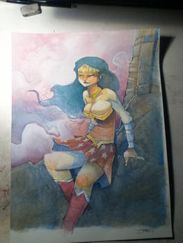 Wonder Woman Watercolor