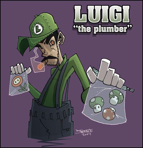 Luigi the Plumber by JeremyTreece