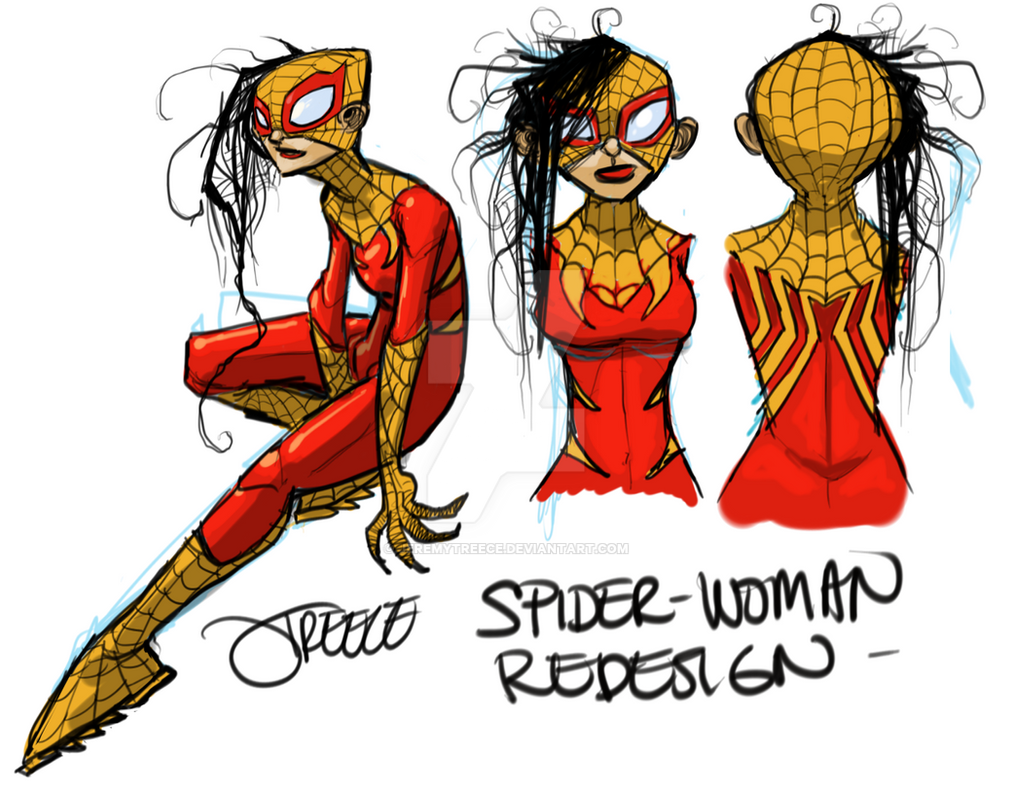 Spider-Woman Redesign. by JeremyTreece