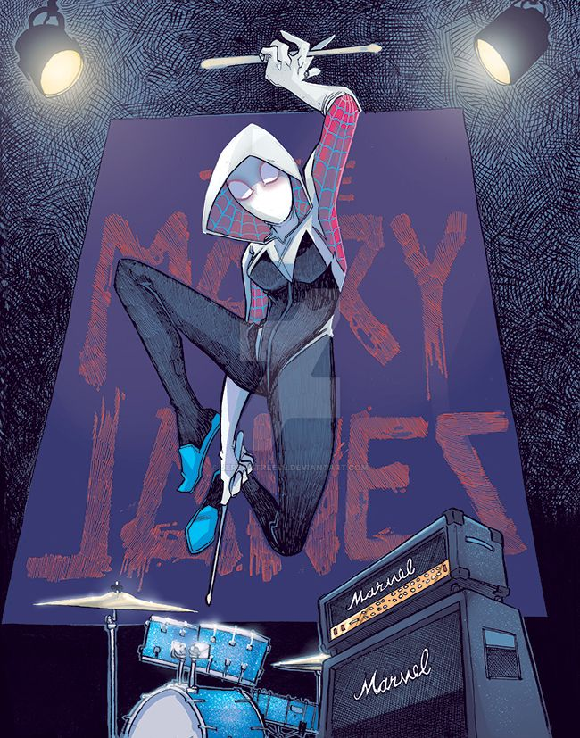 spider_gwen_color_low_by_jeremytreece-d8