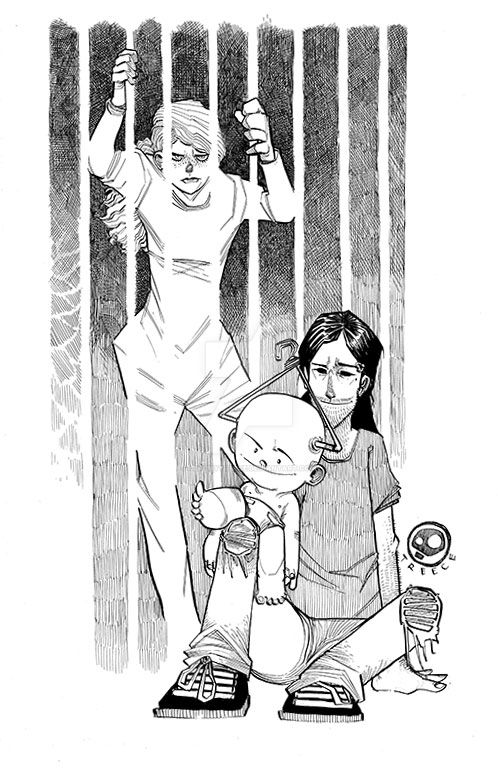Hanger Baby Family Photo Inks by JeremyTreece