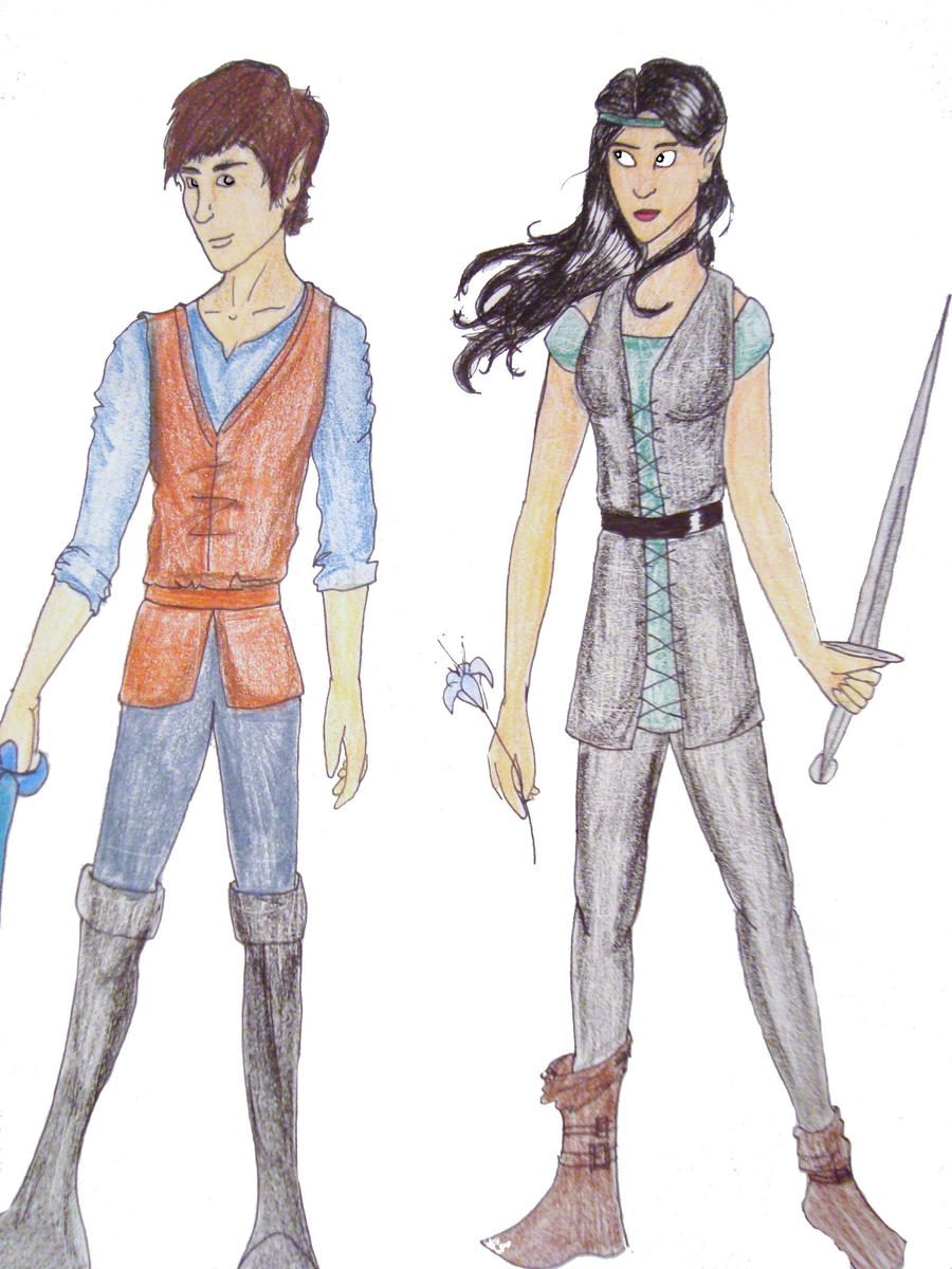 Eragon and Arya by Mur... Eragon And Arya Drawings