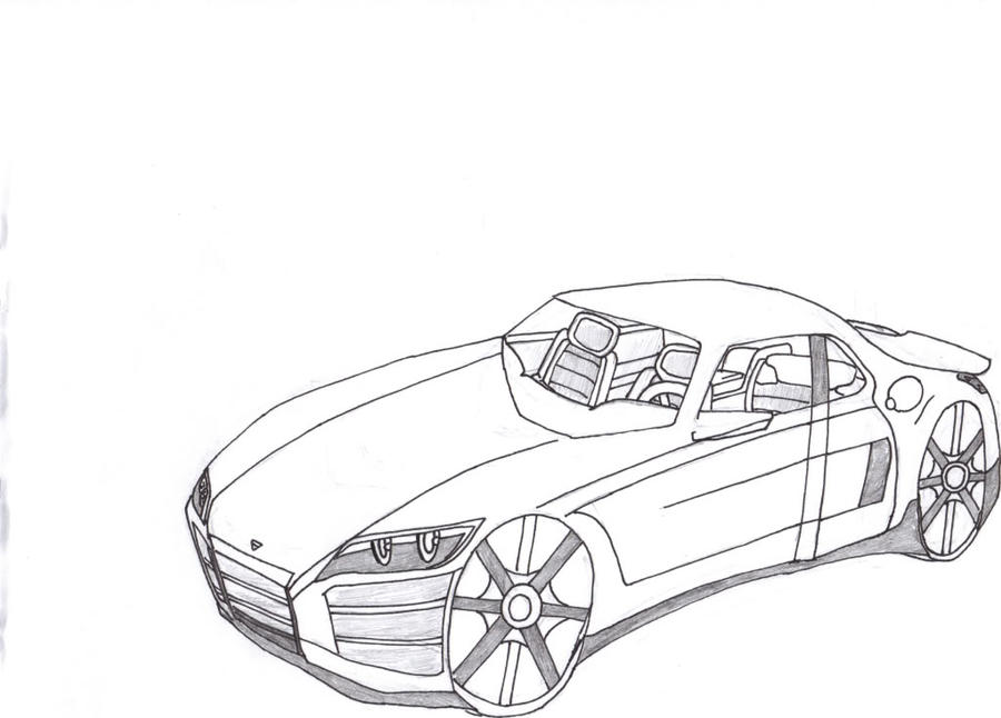 basic car drawing by xeno099 on deviantart