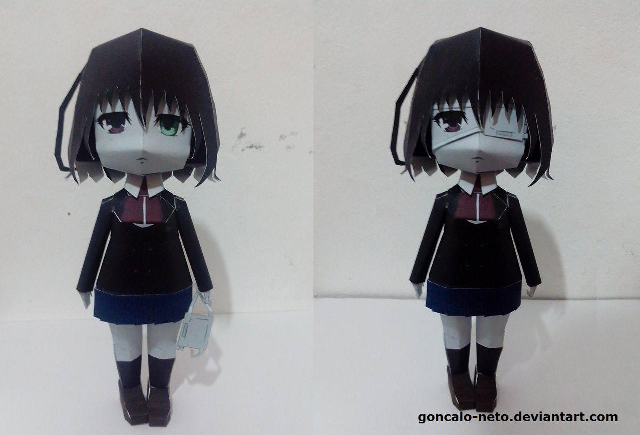 misaki  mei Papercraft by goncalo-neto
