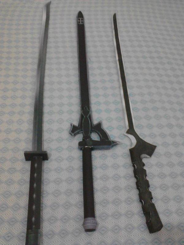 minhas espadas de papercraft by goncalo-neto