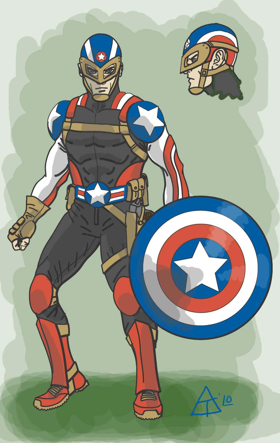 Captain America Redesign by toekneearrows