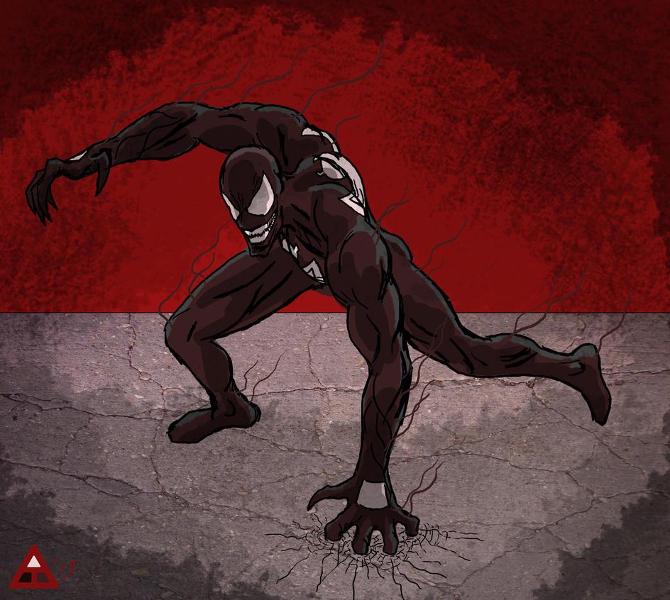 Quick Venom Sketch by toekneearrows