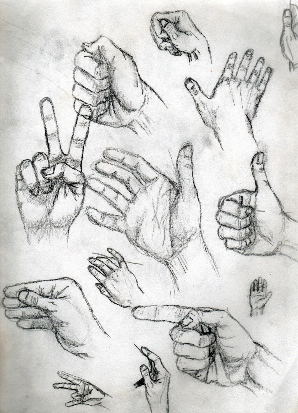 Hand Study by toekneearrows