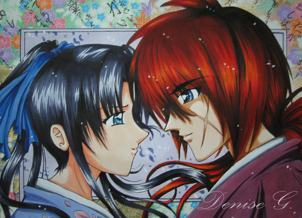 kenshin and kaoru by denisegan on DeviantArt