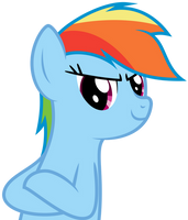 Impromptu Vector - Rainbow Dash by bobsicle0